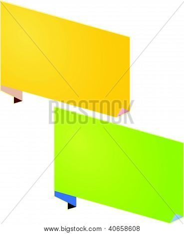 Yellow And Green Paper Notes