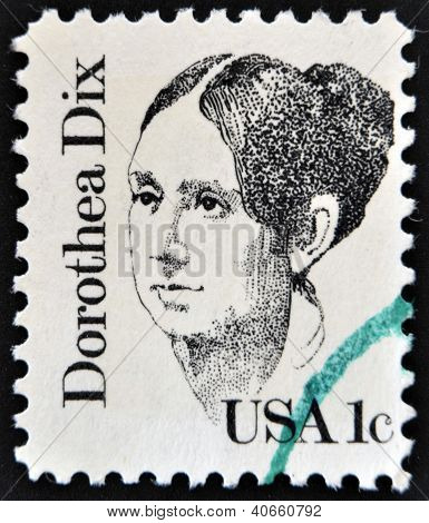 UNITED STATES OF AMERICA - CIRCA 1983: A stamp printed in USA shows Dorothea Lynde Dix circa 1983