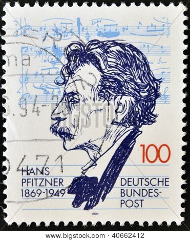 GERMANY- CIRCA 1994: stamp printed in Germany shows Hans Pfitzner Composer circa 1994
