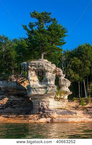 Chapel Rock In Pictured Rocks National Shore, Lake Superior
