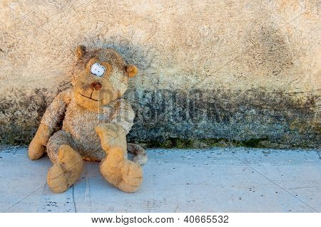 A Dirty And Old Teddy Bear