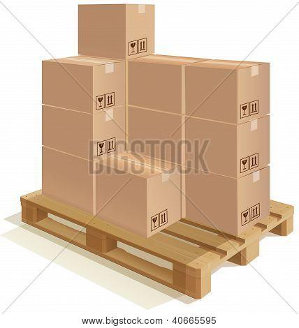 Plataforma con cajas