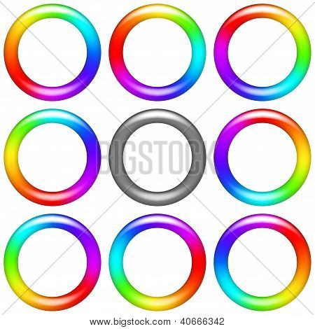 Rainbow ring, set