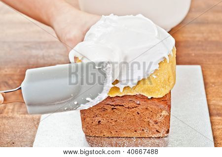 Spreading Cream With Spatula