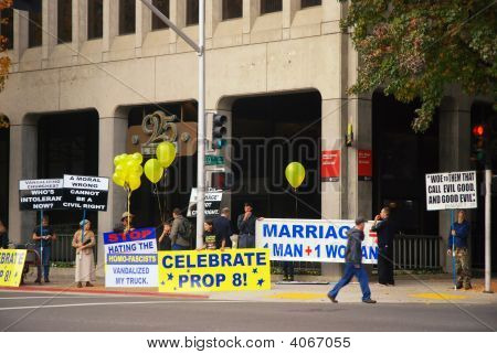 Prop 8 Support Demonstration