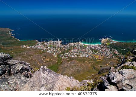 View Of Camps Bay From Table Mountain, South Africa