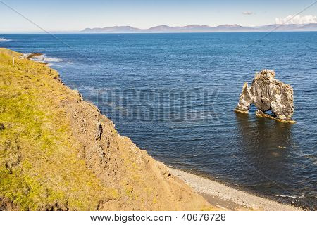 Rock Formation -  Hvitserkur, Iceland.
