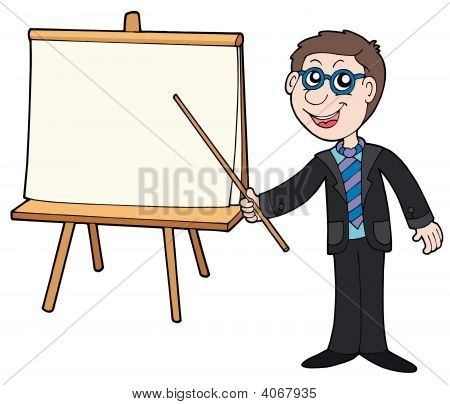 Businessman With Table