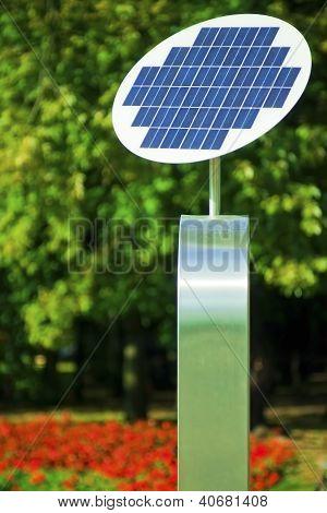 A photovoltaic solar panel.