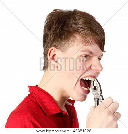 Boy With Pliers