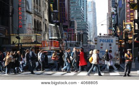 Busy Times Square