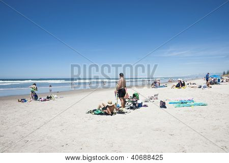 Summer draws out beach goers
