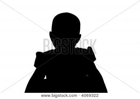 Little Girl Sihouette ilustración