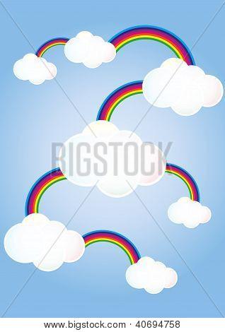 Nubes vinculado arco iris