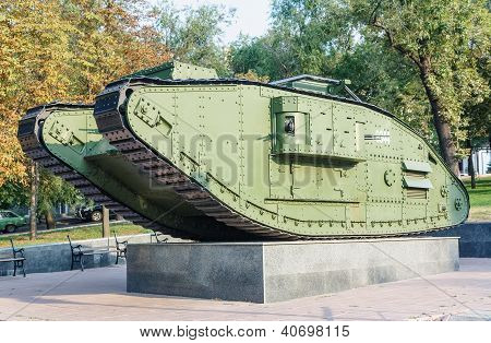 Unique Example Of Britain Battle Tank Mark V In Lugansk