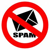 picture of no spamming  - No spam vector sign isolated on white background - JPG