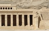 pic of mortuary  - architectural detail of the ancient Mortuary Temple of Hatshepsut in Egypt - JPG