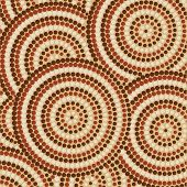 stock photo of aborigines  - Abstract Aboriginal dot painting in vector format - JPG
