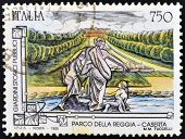 ITALY - CIRCA 1995: A stamp printed in Italy shows Royal Palace of Caserta Circa 1995