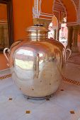 foto of khas  - Silver urn inside Diwan - JPG