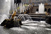image of samson  - Grand Cascade Fountains At Peterhof Palace St. Petersburg.