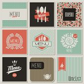 stock photo of cocktail menu  - Collection of restaurant menu designs - JPG
