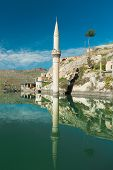 stock photo of euphrates river  - Sunken village Halfeti in Gaziantep Turkey - JPG