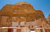 stock photo of masada  - The Ruins of the Fortress Masada Israel - JPG