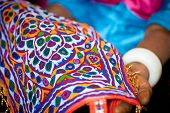 Indian embroidery handicraft