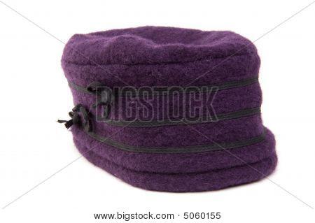 Chapéu de Inverno roxo
