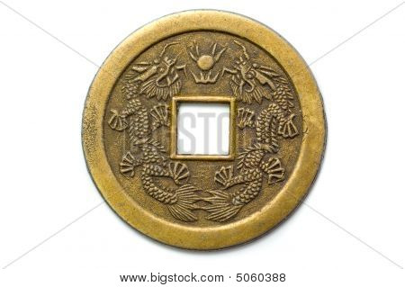 Old Chinese Feng Shui Lucky Coin