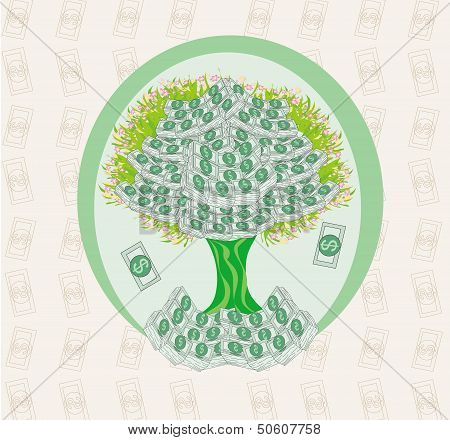 Money Growing On Trees - Abstract Card
