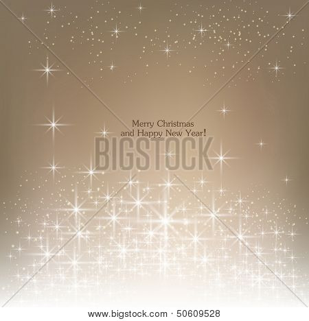 Beige beautiful Christmas background.