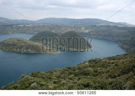 Volcanic Islands in Lake Cuicocha
