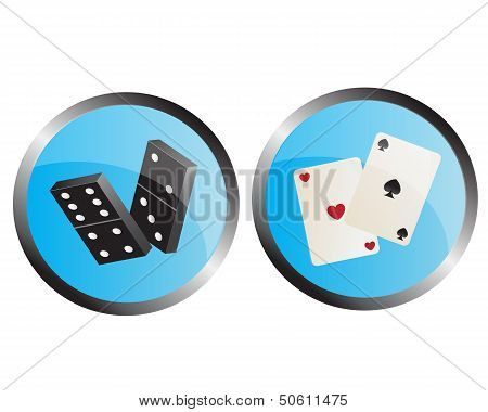 icon  dominoes and playing cards