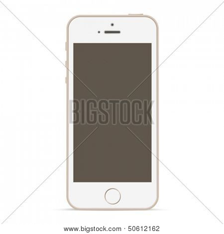 Abstract Mobile phone vector design mockup template. Smartphone blank screen. Touchscreen technology