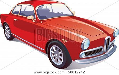 Red Classic Retro Car