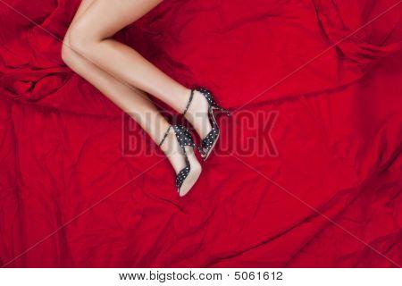 Model Lying In Bed