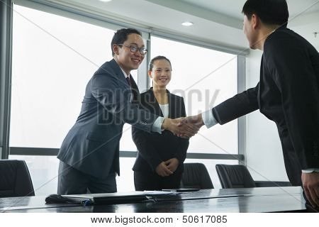 Businessmen Greeting Each Other with a Handshake