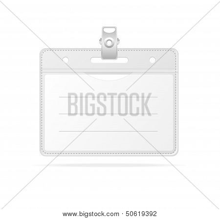 Blank ID (identification card ) Badge isolated