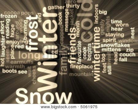 Winter Wordcloud Glowing