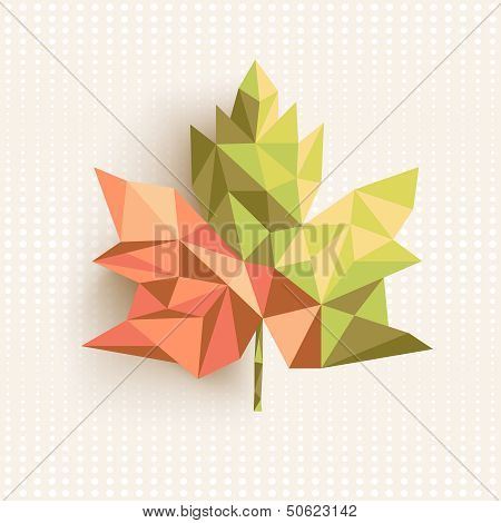 Fall Season Triangle Leaf Composition Concept Background. Eps10 File.