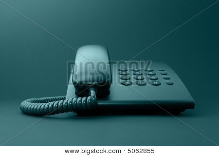 Black Solid Office Phone