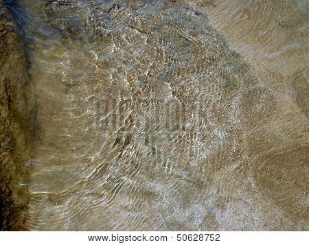 Mineral pyrite under water