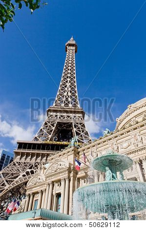 Paris  Hotel And Casino In Las Vegas, Usa.