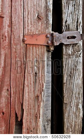 Country barn with door latch