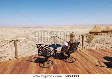 Woman Look At The Desert