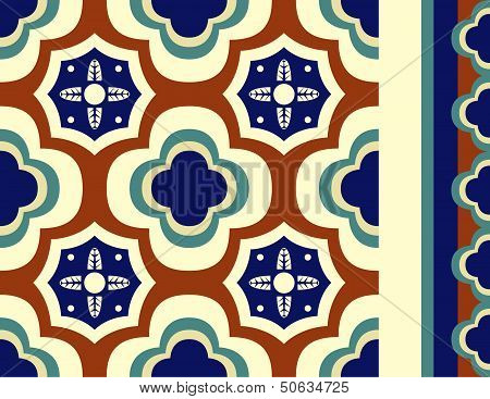 Fiesta Tile In Talavera Style With Borders