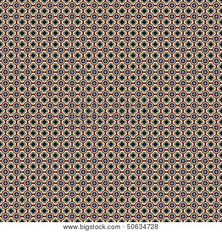 Fiesta Tile In Talavera Style Seamless Wallpaper