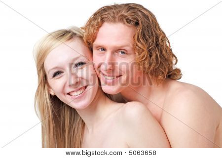 Portrait Of Young Happy Couple